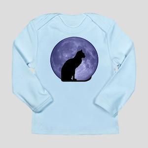 Cat & Moon Long Sleeve Infant T-Shirt