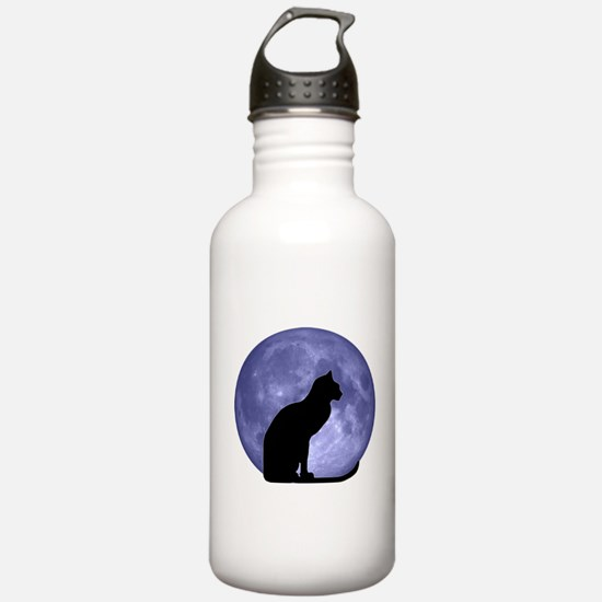 Cat & Moon Water Bottle
