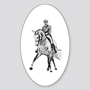 Dressage horse Sticker (Oval)