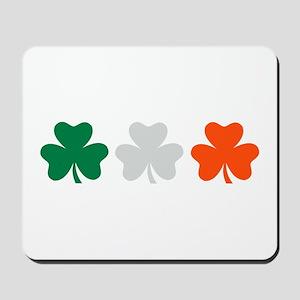 Ireland shamrocks Mousepad