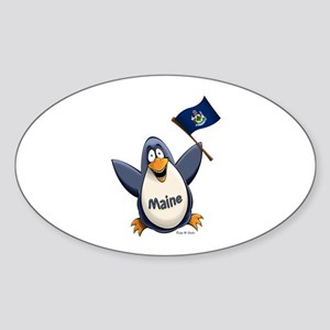 Maine Penguin Sticker (Oval)