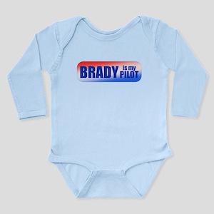 Brady Is My Pilot Long Sleeve Infant Bodysuit