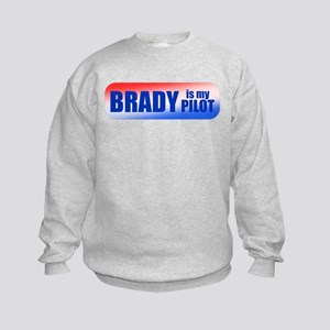 Brady Is My Pilot Kids Sweatshirt