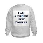 Jewish - I Star of David NY - Kids Sweatshirt