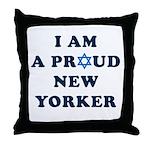 Jewish - I Star of David NY - Throw Pillow