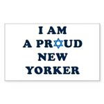 Jewish - I Star of David NY - Sticker (Rectangular