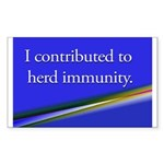 Herd Immunity Sticker (Rectangle 50 pk)
