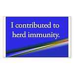 Herd Immunity Sticker (Rectangle)