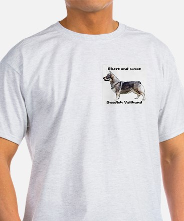 Swedish Vallhund short and sweet Ash Grey T-Shirt