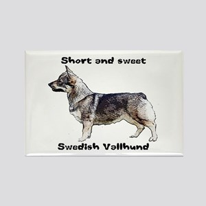 Swedish Vallhund short and sweet Rectangle Magnet