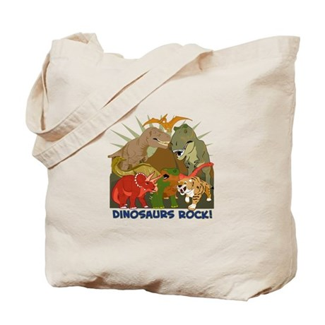 Dinosaurs Rock Tote Bag