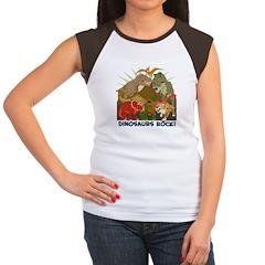 Dinosaurs Rock Women's Cap Sleeve T-Shirt