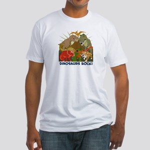 Dinosaurs Rock Fitted T-Shirt