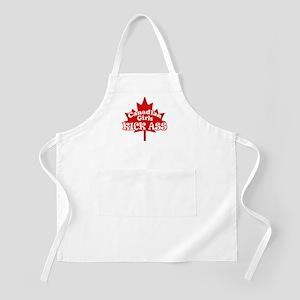 Canadian Girls Kick Ass BBQ Apron