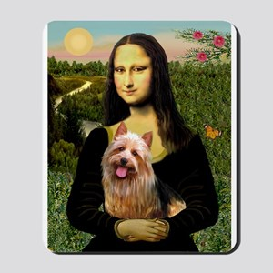 Mona & her Aussie Terrier Mousepad