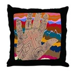 Neolithic HandStrata Throw Pillow