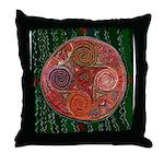 Neolithic Mandala Throw Pillow