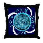 AquaSpiral Throw Pillow