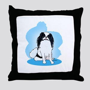 Japanese Chin B/W Throw Pillow
