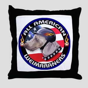 All American Weimaraners Throw Pillow