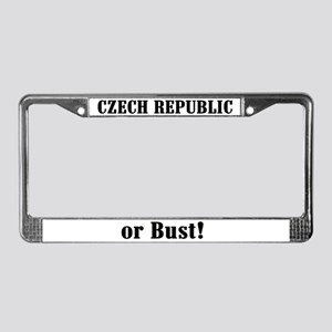 Czech Republic or Bust! License Plate Frame