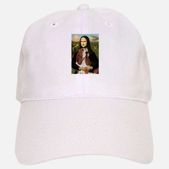 Mona and her Basset Baseball Baseball Cap