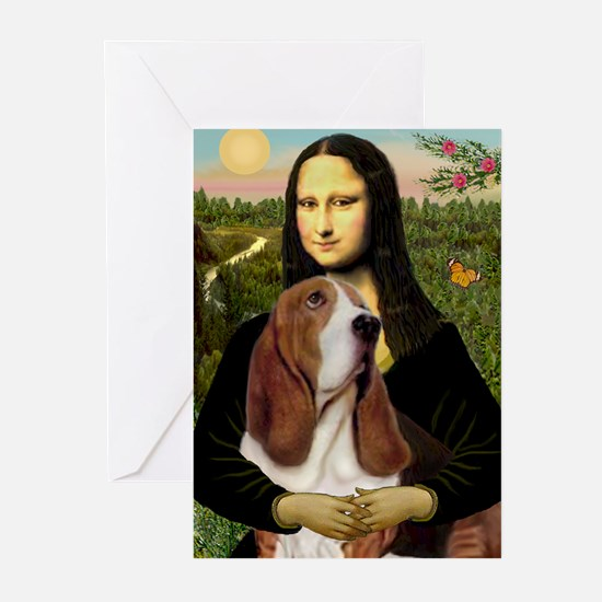 Mona and her Basset Greeting Cards (Pk of 10)