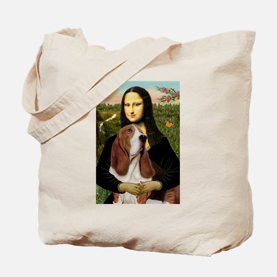 Mona and her Basset Tote Bag