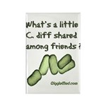 C. diff Among Friends Rectangle Magnet (100 pack)