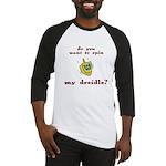 Jewish - Spin my Dreidle? - Baseball Jersey