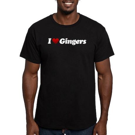 I Love Gingers Men's Fitted T-Shirt (dark)