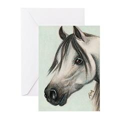 GREY ARAB HORSE Greeting Cards (Pk of 10)