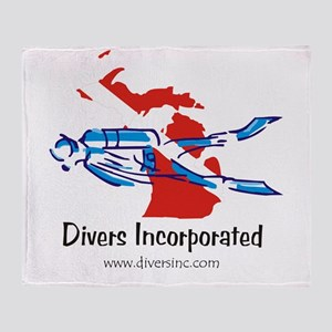 Divers Incorporated Throw Blanket