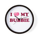 Jewish - I love my Bubbie - Wall Clock