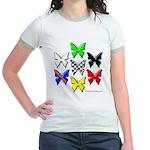 checkered heart and handcuffs Jr. Ringer T-Shirt