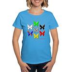 checkered heart and handcuffs Women's Dark T-Shirt