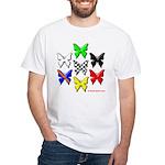 checkered heart and handcuffs White T-Shirt