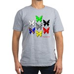checkered heart and handcuffs Men's Fitted T-Shirt