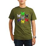 checkered heart and handcuffs Organic Men's T-Shir