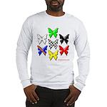 checkered heart and handcuffs Long Sleeve T-Shirt