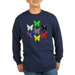 checkered heart and handcuffs Long Sleeve Dark T-S
