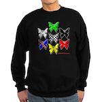 checkered heart and handcuffs Sweatshirt (dark)