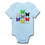 checkered heart and handcuffs Infant Bodysuit