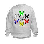 checkered heart and handcuffs Kids Sweatshirt