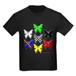 checkered heart and handcuffs Kids Dark T-Shirt