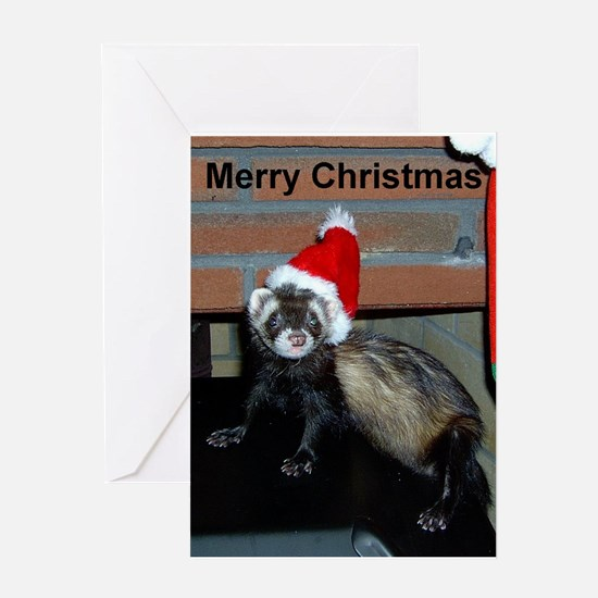 Ferret Christmas Greeting Card