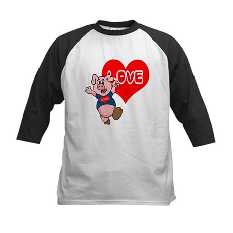 The Love Piggy Kids Baseball Jersey