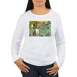 Basenji in Irises Women's Long Sleeve T-Shirt