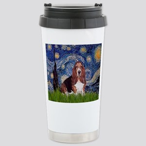 Starry / Basset Hound Stainless Steel Travel Mug