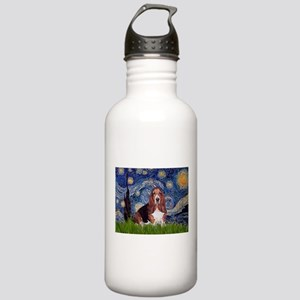 Starry / Basset Hound Stainless Water Bottle 1.0L